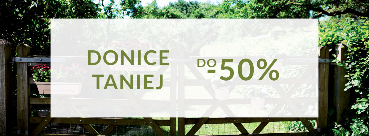 Donice taniej do -50%
